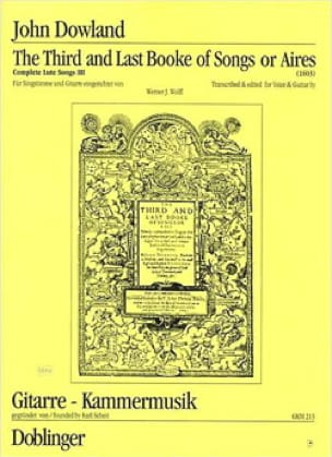 John Dowland - The 3rd And Last Book Of Songs or Aires / In Darkness Let Mee Dwell - Partition - di-arezzo.co.uk
