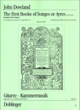 John Dowland - The 1st Book Of Songs Or Ayres - Partition - di-arezzo.co.uk
