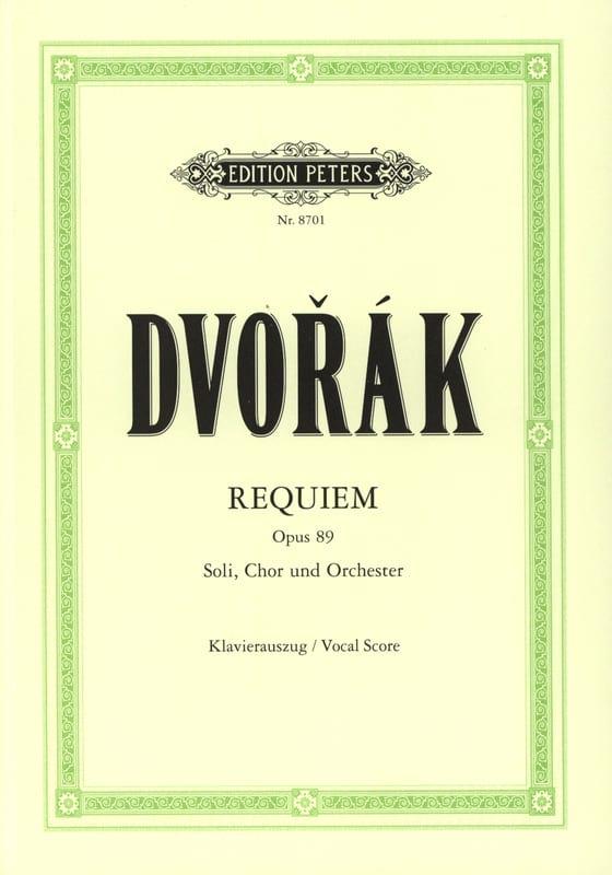 DVORAK - Requiem Opus 89 - Partition - di-arezzo.es
