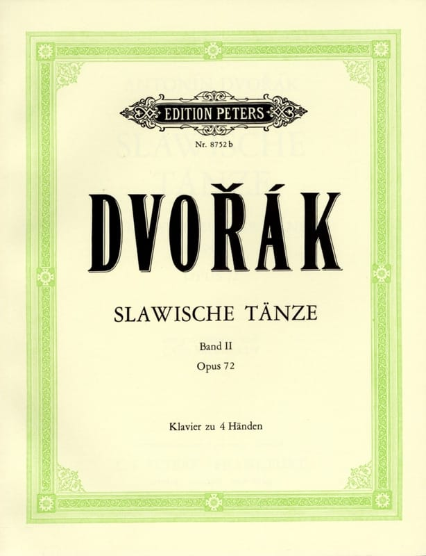 DVORAK - Slaves Dances Opus 72. 4 Hands - Partition - di-arezzo.es
