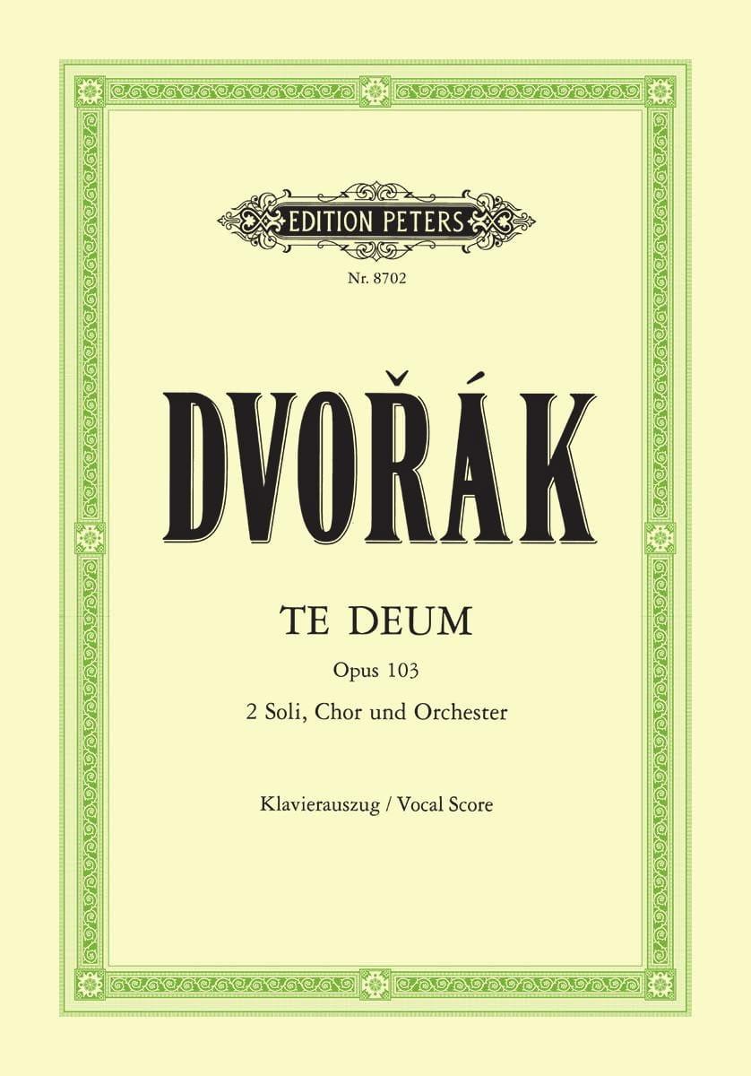 DVORAK - Te Deum Opus 103 - Partition - di-arezzo.es