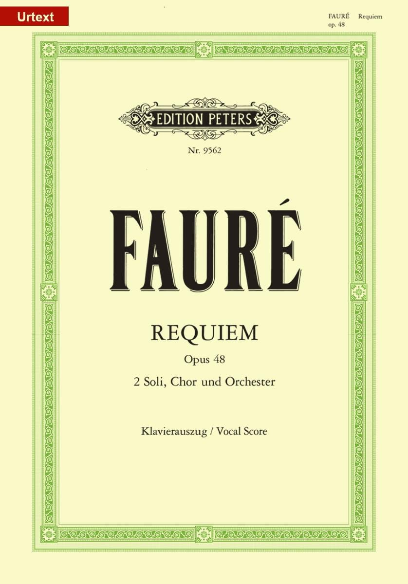 Gabriel Fauré - Requiem - Opus 48 - Partition - di-arezzo.co.uk