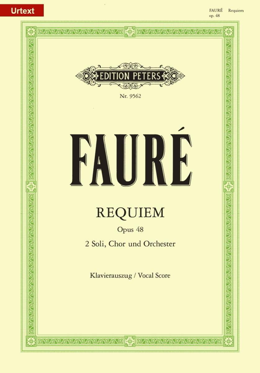 Gabriel Fauré - Requiem - Opus 48 - Partition - di-arezzo.com