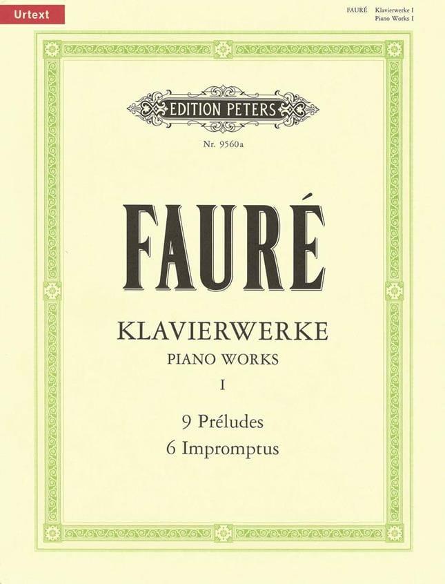 Klavierwerke Volume 1: Préludes, impromptus - FAURÉ - laflutedepan.com