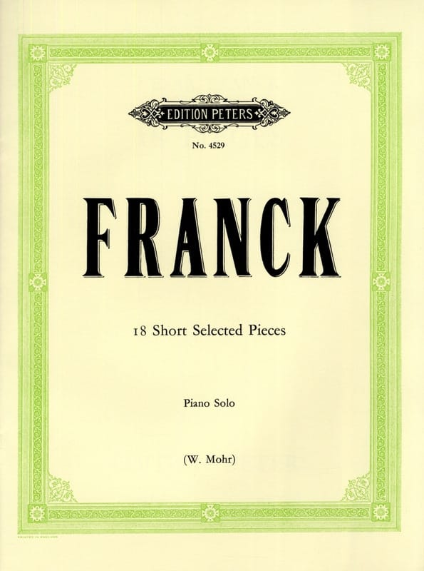 César Franck - 18 Kleine Stücke - Partition - di-arezzo.co.uk