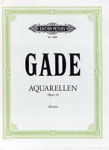 Aquarellen Op. 19 - Gade - Partition - Piano - laflutedepan.com