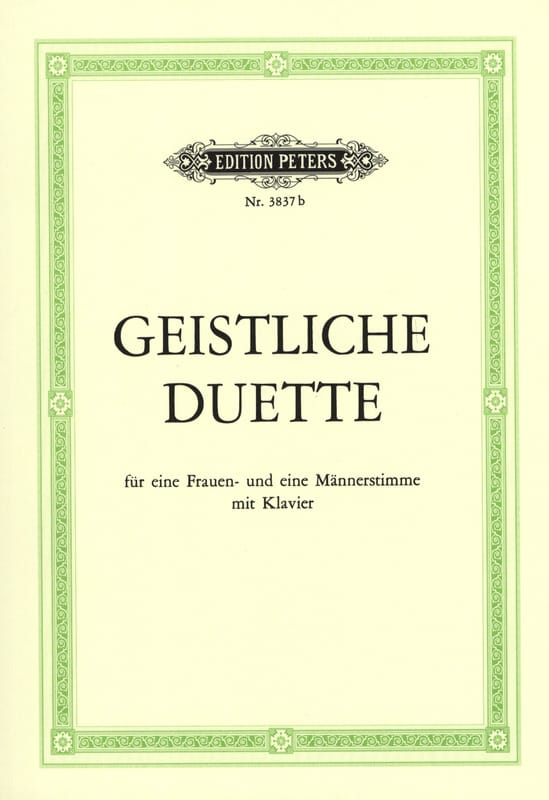 - Geistliche Duette - Partition - di-arezzo.com