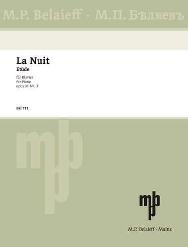 La nuit - GLAZOUNOV - Partition - Piano - laflutedepan.com