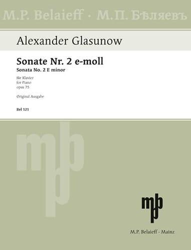 Sonate n° 2 Opus 75 - GLAZOUNOV - Partition - Piano - laflutedepan.com