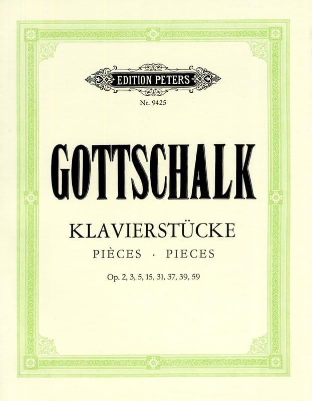 Louis Moreau Gottschalk - Pieces For Piano - Partition - di-arezzo.com