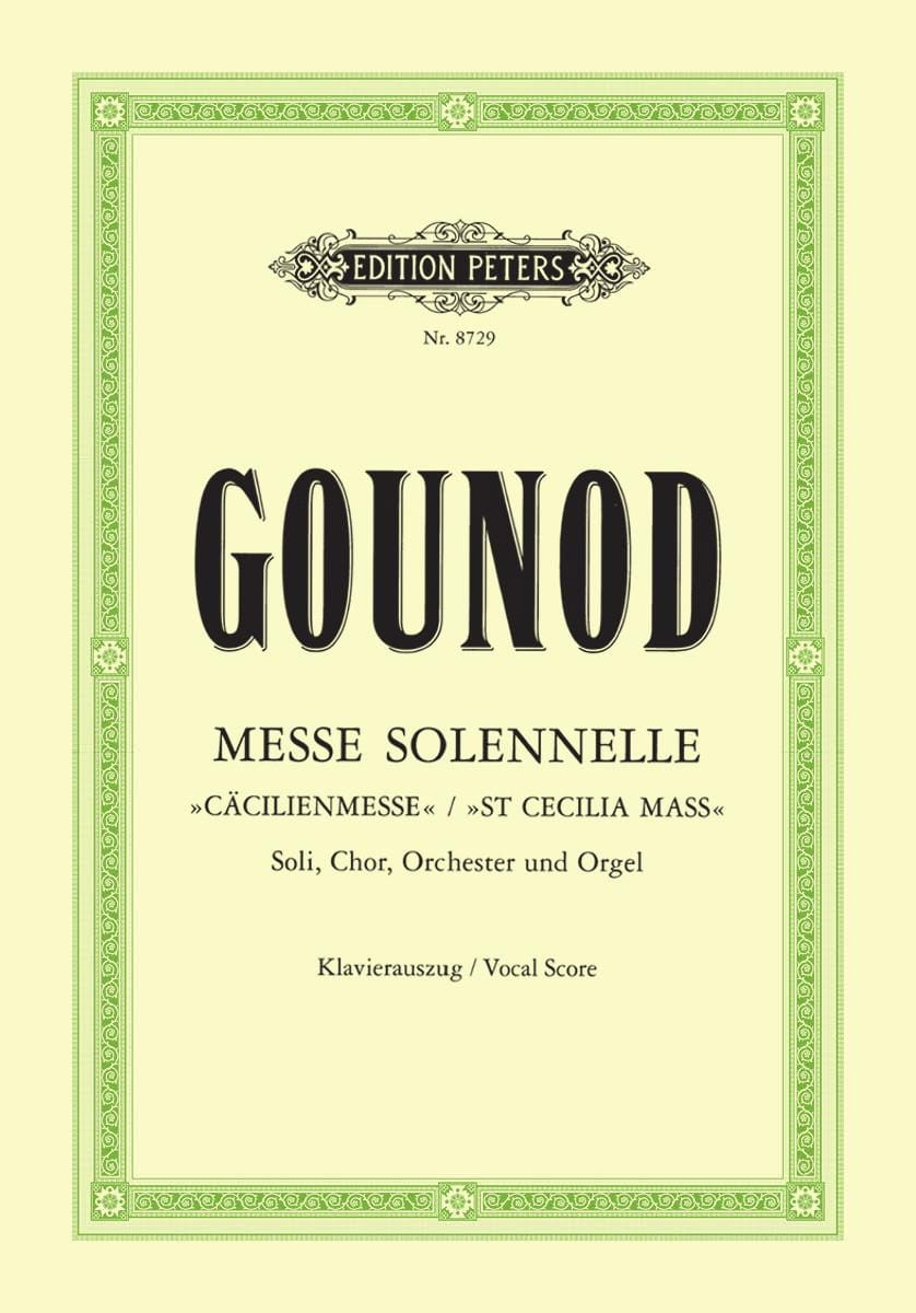 Charles Gounod - Solemn Mass Saint Cecilia - Partition - di-arezzo.co.uk