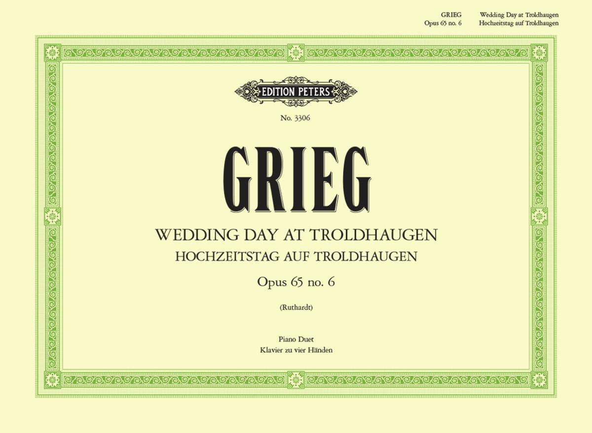 Hochzeitstag Auf Troldhaugen - GRIEG - Partition - laflutedepan.com
