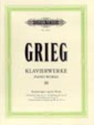 Oeuvre Pour Piano Volume 3 - GRIEG - Partition - laflutedepan.com