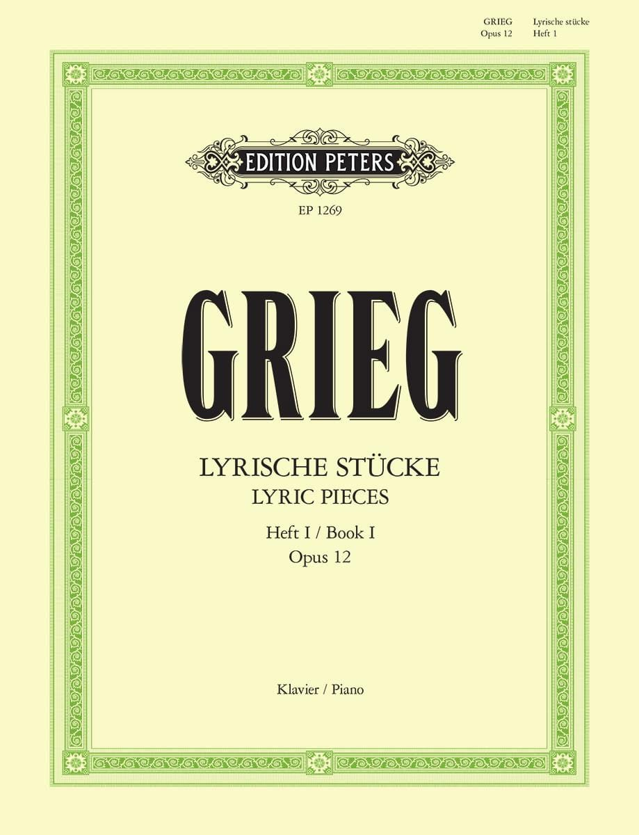 Edward Grieg - Lyrische Stücke 1 Opus 12 - Partition - di-arezzo.co.uk