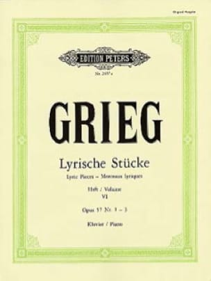 Lyrische Stücke Volume 6 Opus 57 1-3 - GRIEG - laflutedepan.com