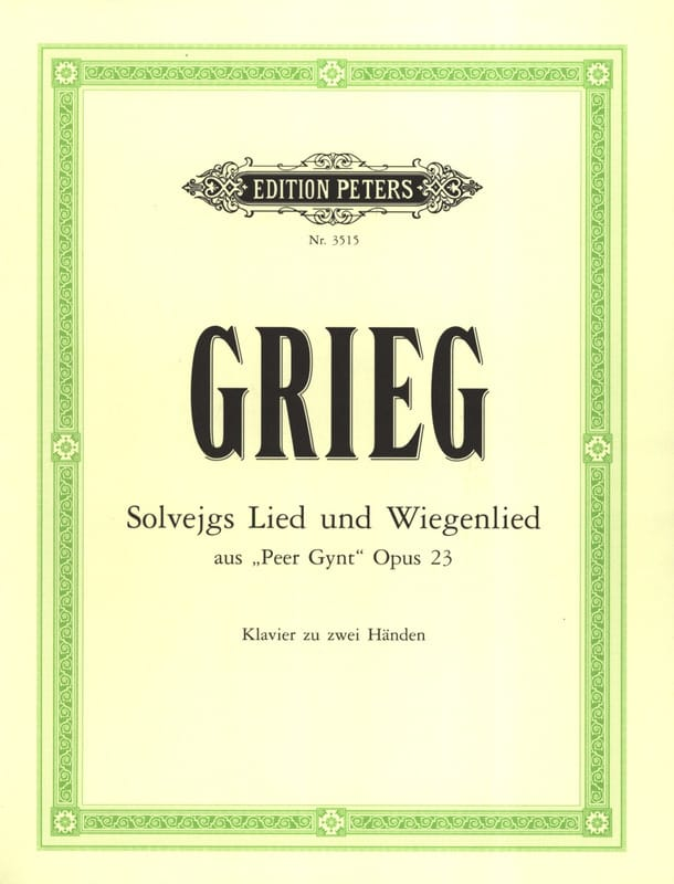 Solveigs Lied Und Wiegenlied - GRIEG - Partition - laflutedepan.com