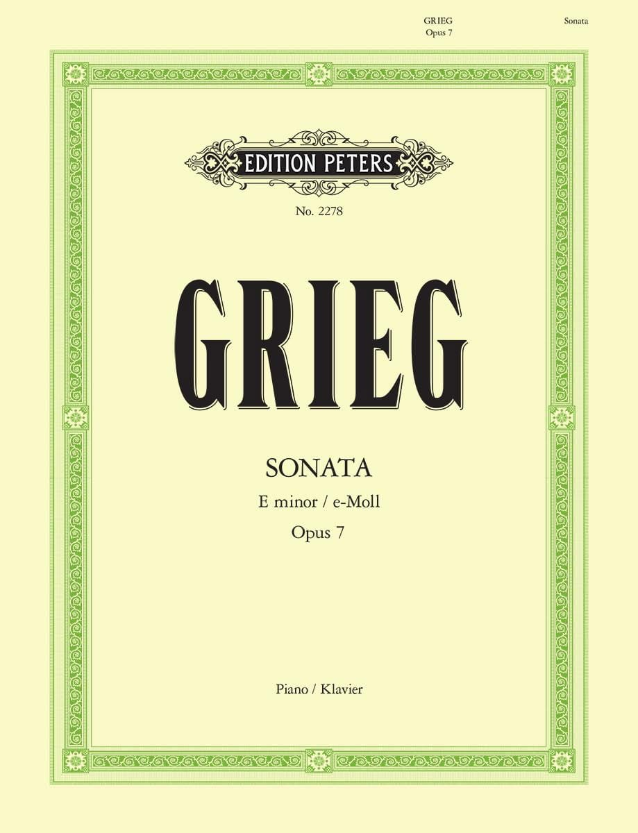 Edward Grieg - Sonata In E Minor Opus 7 - Partition - di-arezzo.co.uk