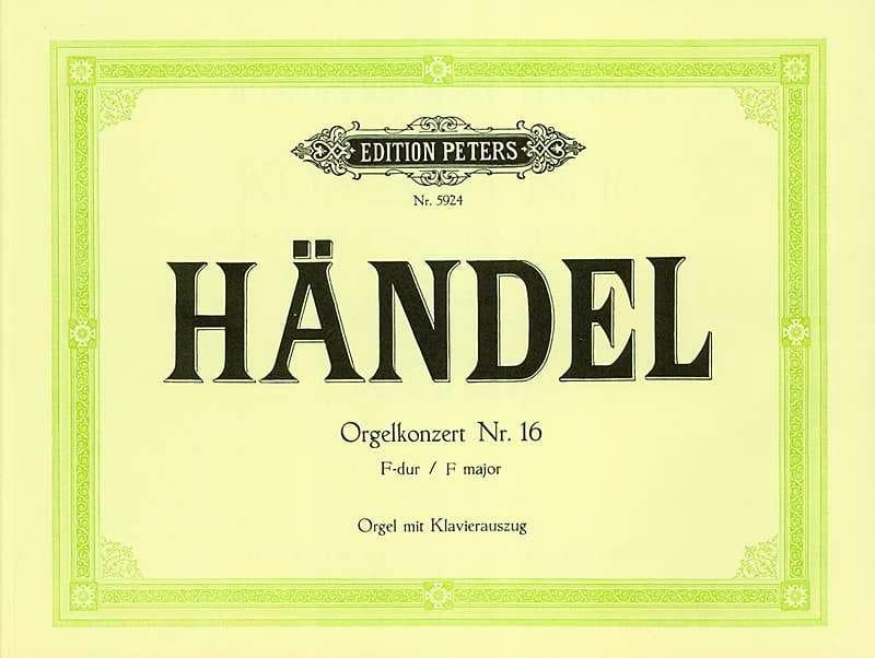 Concerto N°16 En Fa - HAENDEL - Partition - Orgue - laflutedepan.com