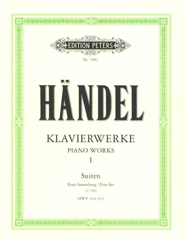 Suites Volume 1 - HAENDEL - Partition - Piano - laflutedepan.com
