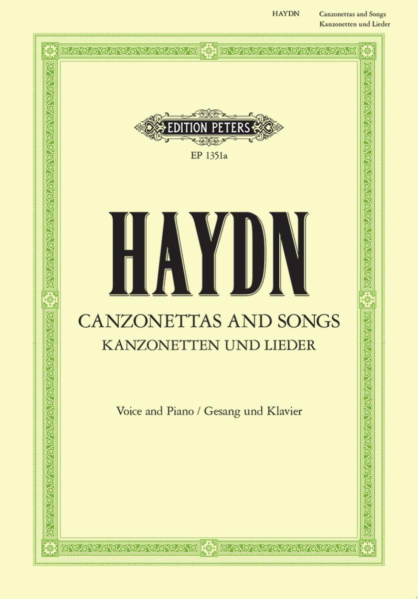 Canzonettas And Songs - HAYDN - Partition - laflutedepan.com
