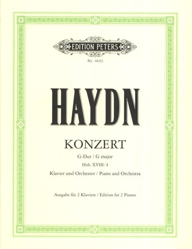 Concerto En Sol Majeur Hob 18-4 - HAYDN - Partition - laflutedepan.com
