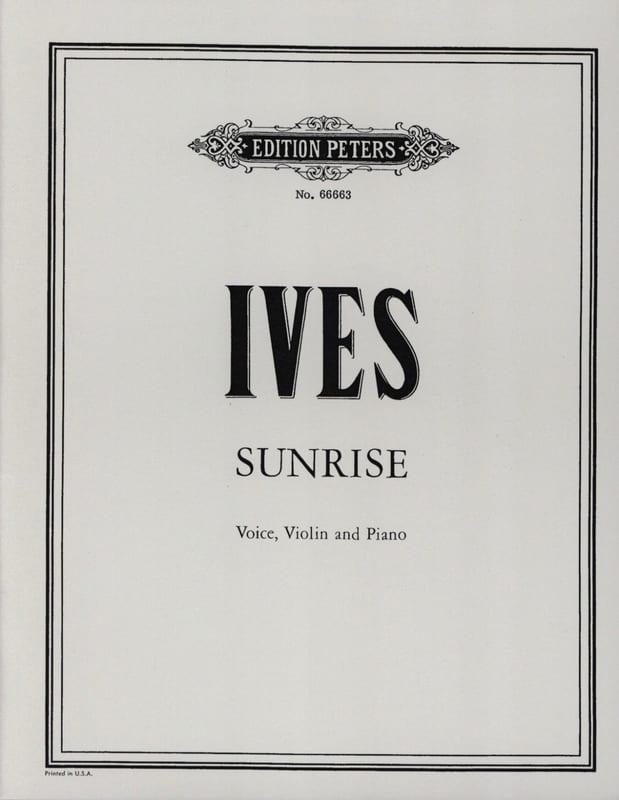 Sunrise - IVES - Partition - Violon - laflutedepan.com