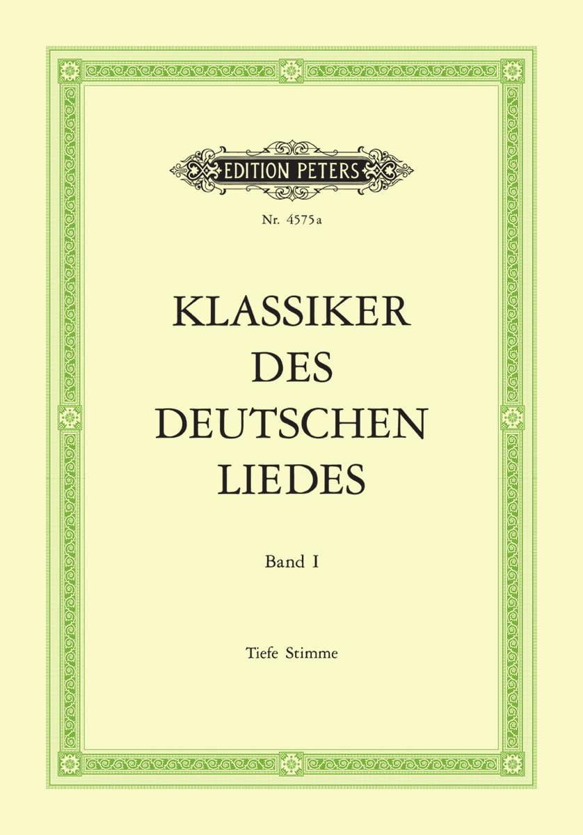 Klassiker des Deutsches Liedes Vol 1 Voix Grave - laflutedepan.com