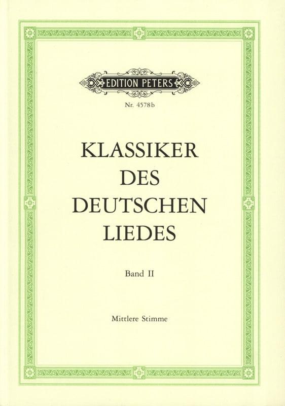 Klassiker des Deutsches Liedes Volume 2 Voix Moyenne - laflutedepan.com