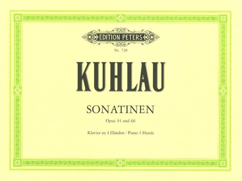 Sonatines Op. 44 et 66. 4 mains - Friedrich Kuhlau - laflutedepan.com