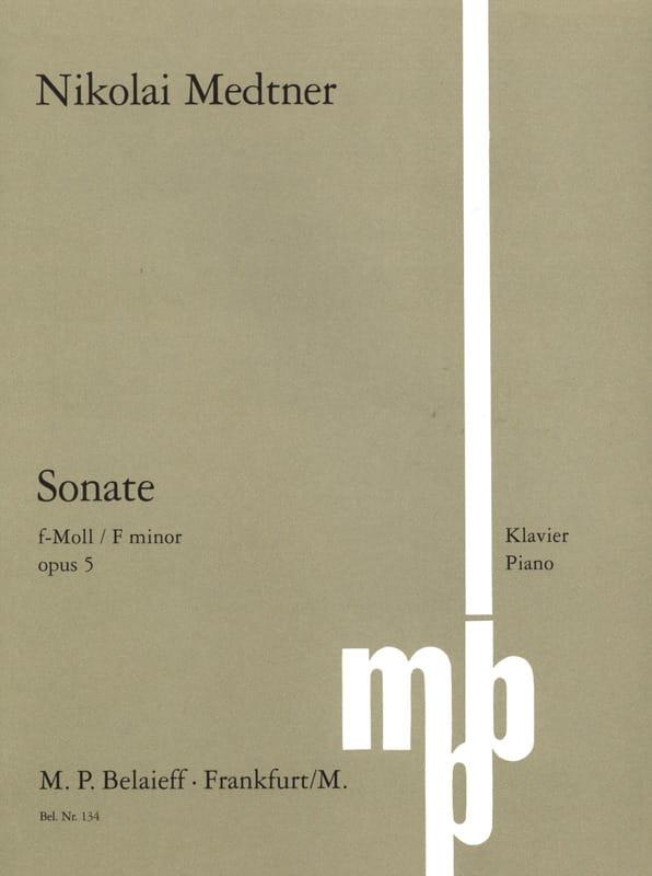 Nicolai Medtner - Sonata Opus 5 - Partition - di-arezzo.es