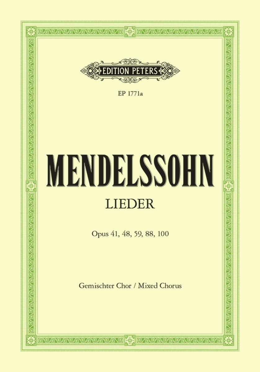 Lieder - Choeur Mixte - MENDELSSOHN - Partition - laflutedepan.com