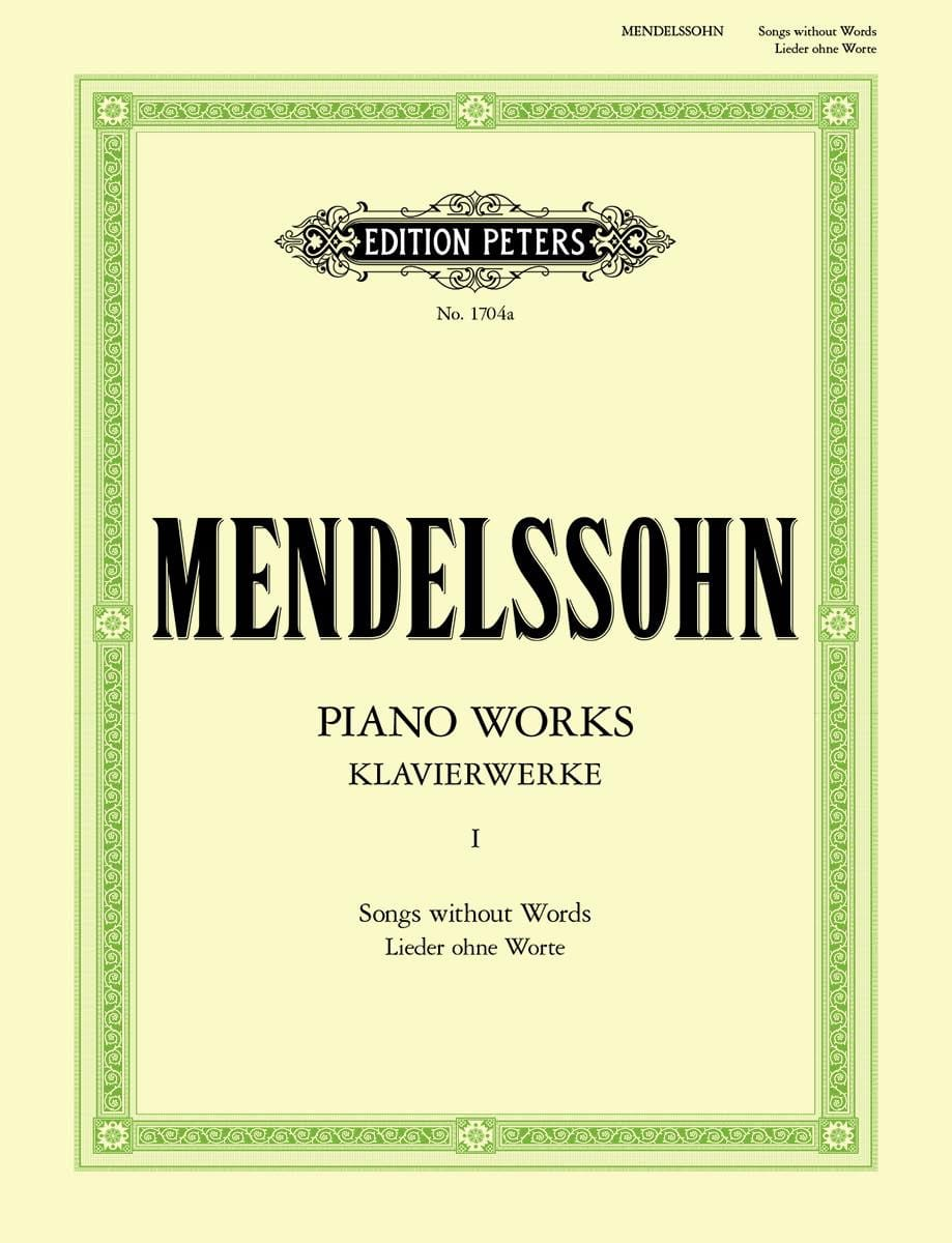 MENDELSSOHN - Lieder Ohne Worte - Partition - di-arezzo.jp