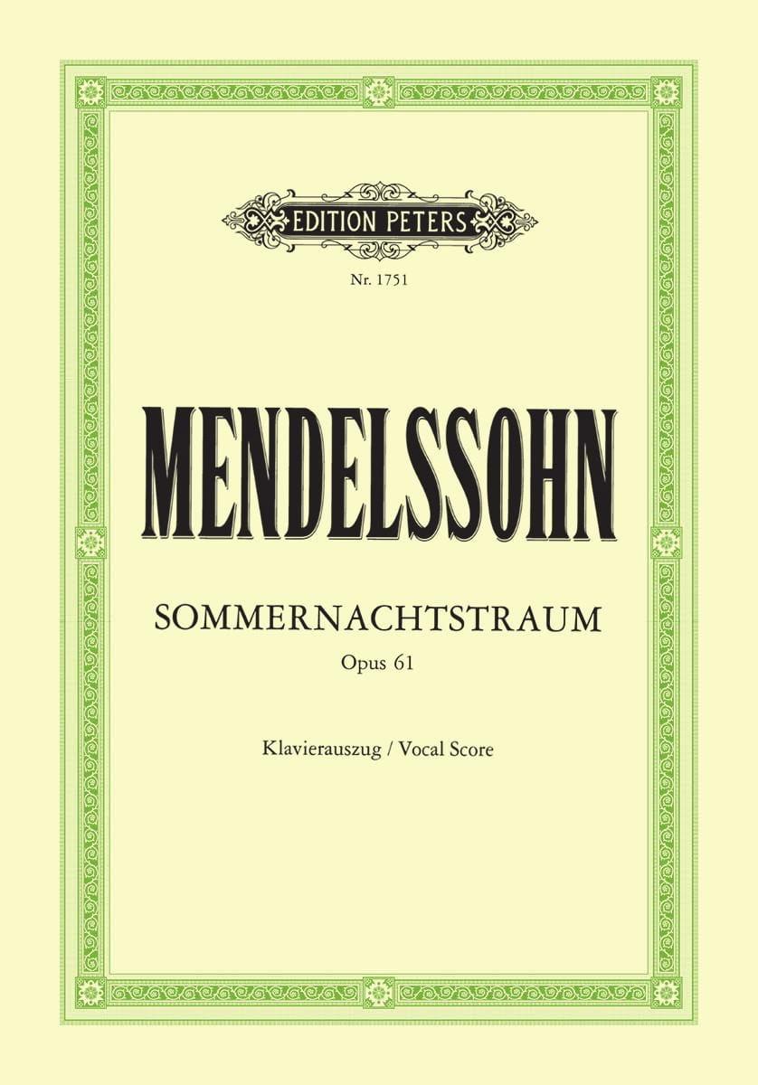 Sommernachtstraum Opus 61 - MENDELSSOHN - Partition - laflutedepan.com