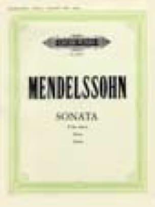 Sonata Si Bémol Mineur - MENDELSSOHN - Partition - laflutedepan.com