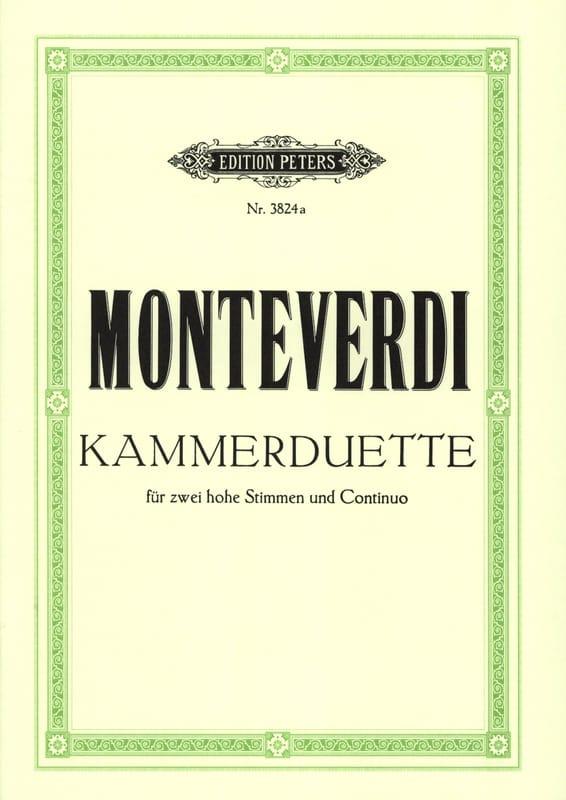 Claudio Monteverdi - 6 Kammer-Duette - Partition - di-arezzo.com