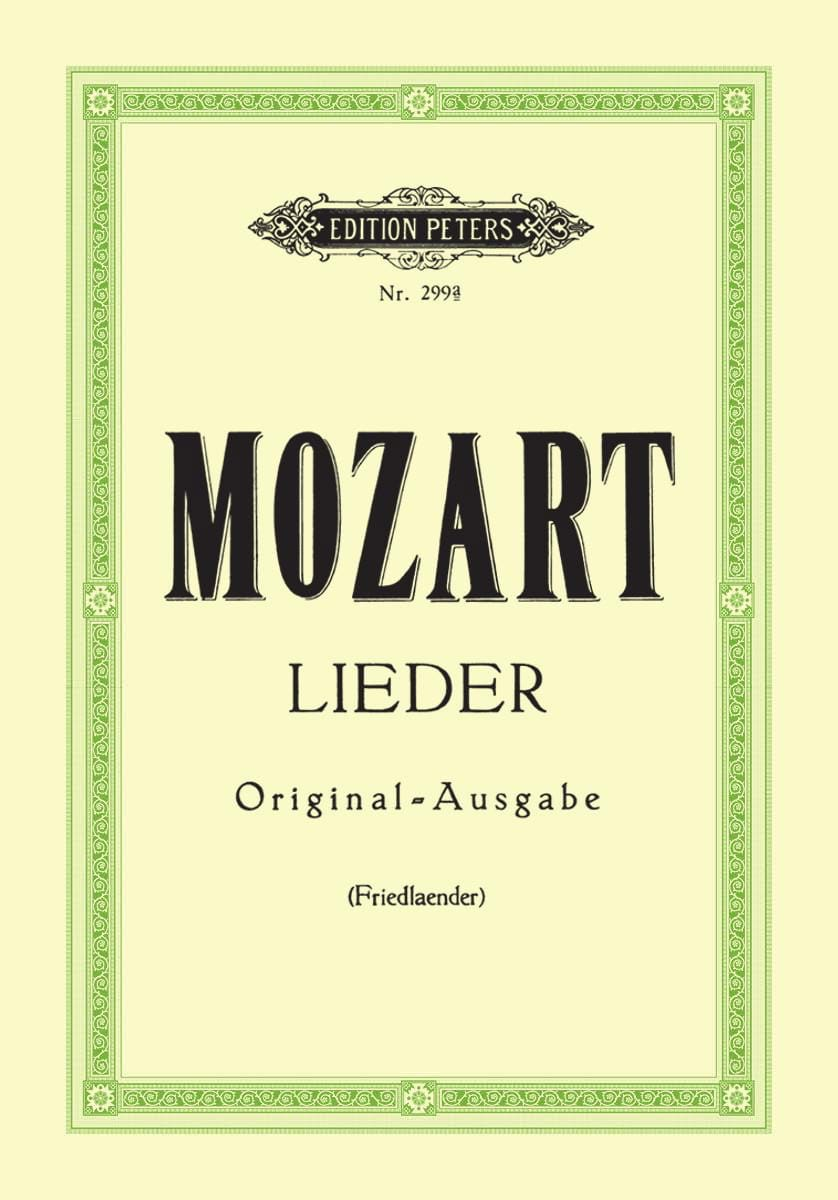 MOZART - 29 Lieder. Aloud - Partition - di-arezzo.co.uk