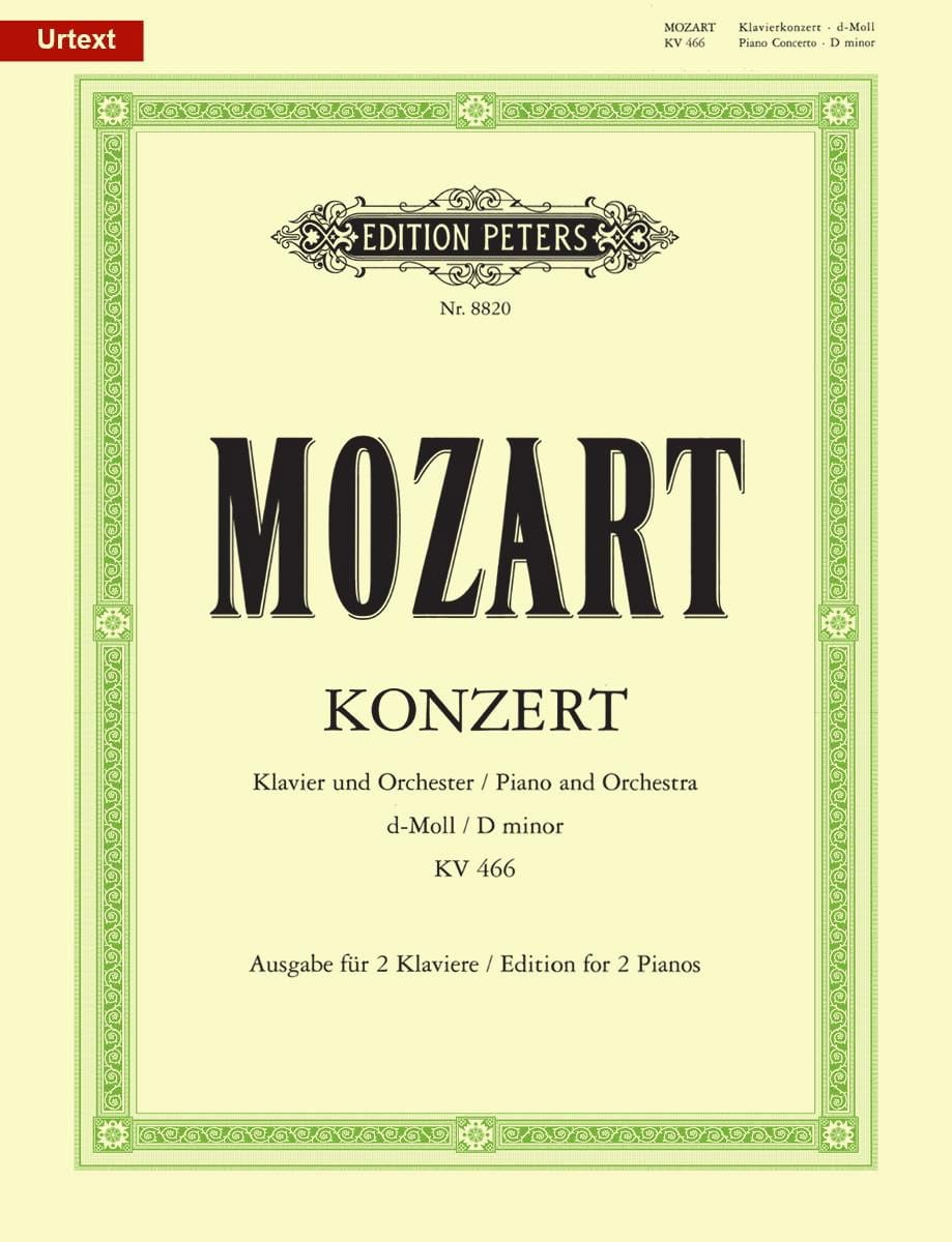 MOZART - Piano Concerto No. 20 In D Minor KV 466 - Partition - di-arezzo.co.uk
