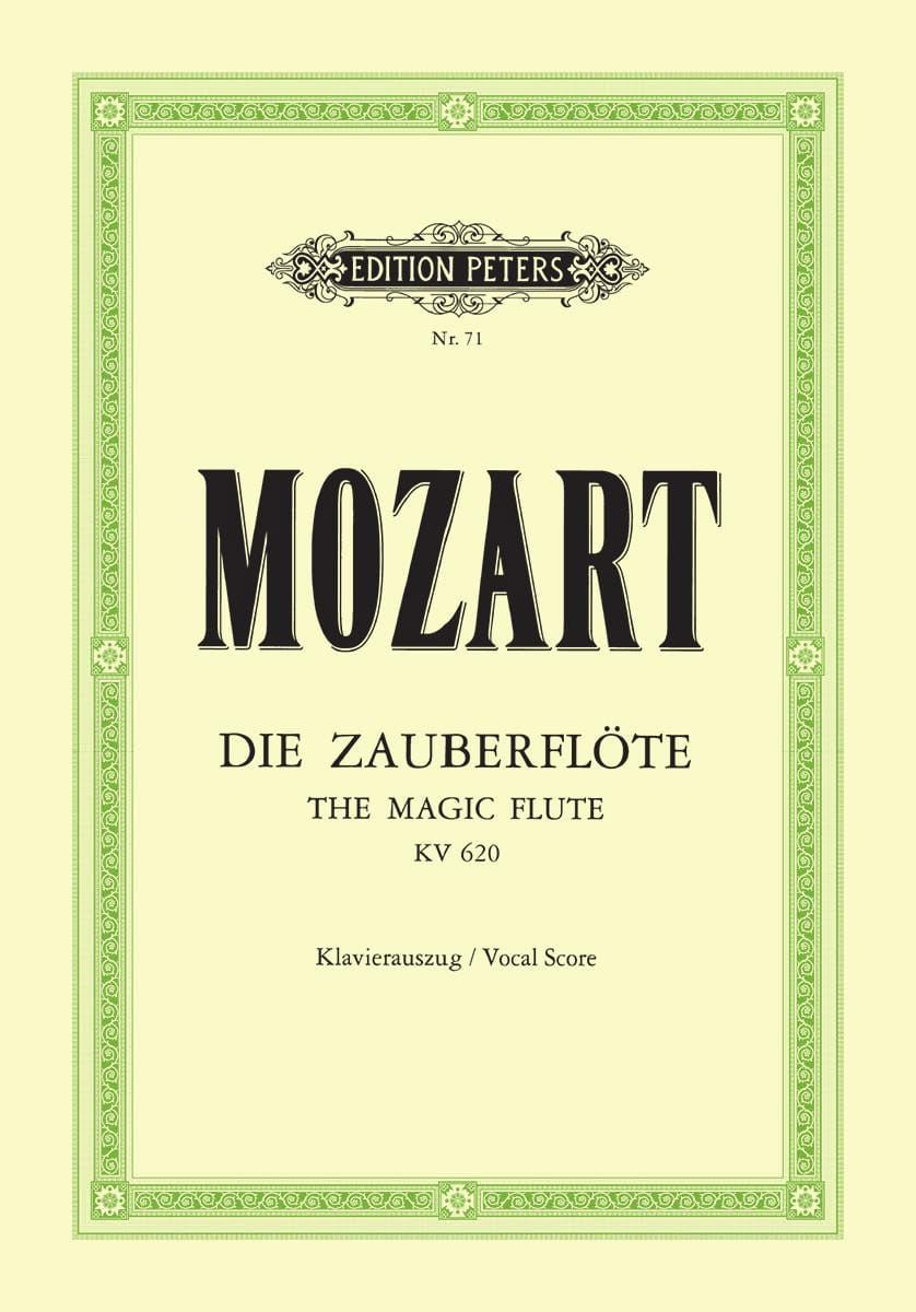 MOZART - Die Zauberflöte K 620 - Partition - di-arezzo.it