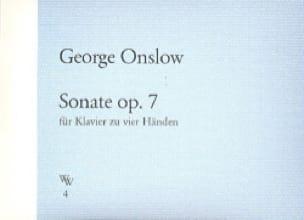 Sonate Op. 7 - George Onslow - Partition - Piano - laflutedepan.com