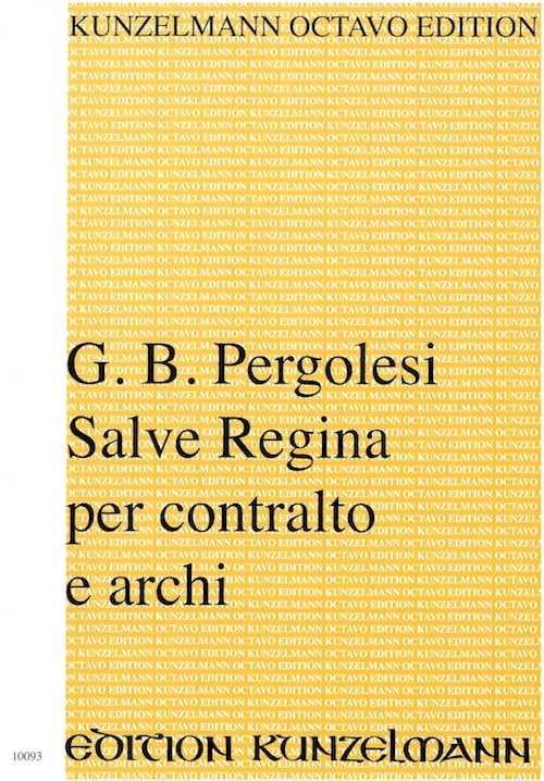 Giovanni Battista Pergolese - Salve Regina en Fa menor. conductor - Partition - di-arezzo.es
