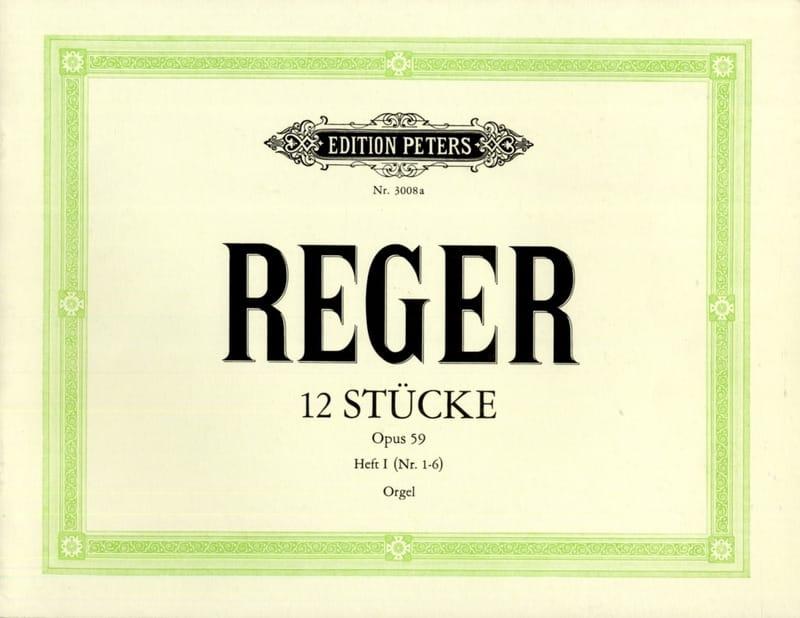 12 Stücke Opus 59 Volume 1 - Max Reger - Partition - laflutedepan.com