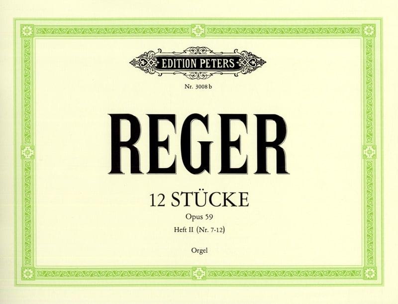 12 Stücke Opus 59 Volume 2 - Max Reger - Partition - laflutedepan.com
