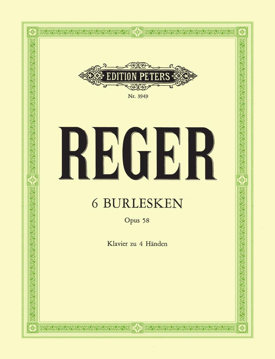 6 Burlesken Op. 58. 4 Mains - Max Reger - Partition - laflutedepan.com