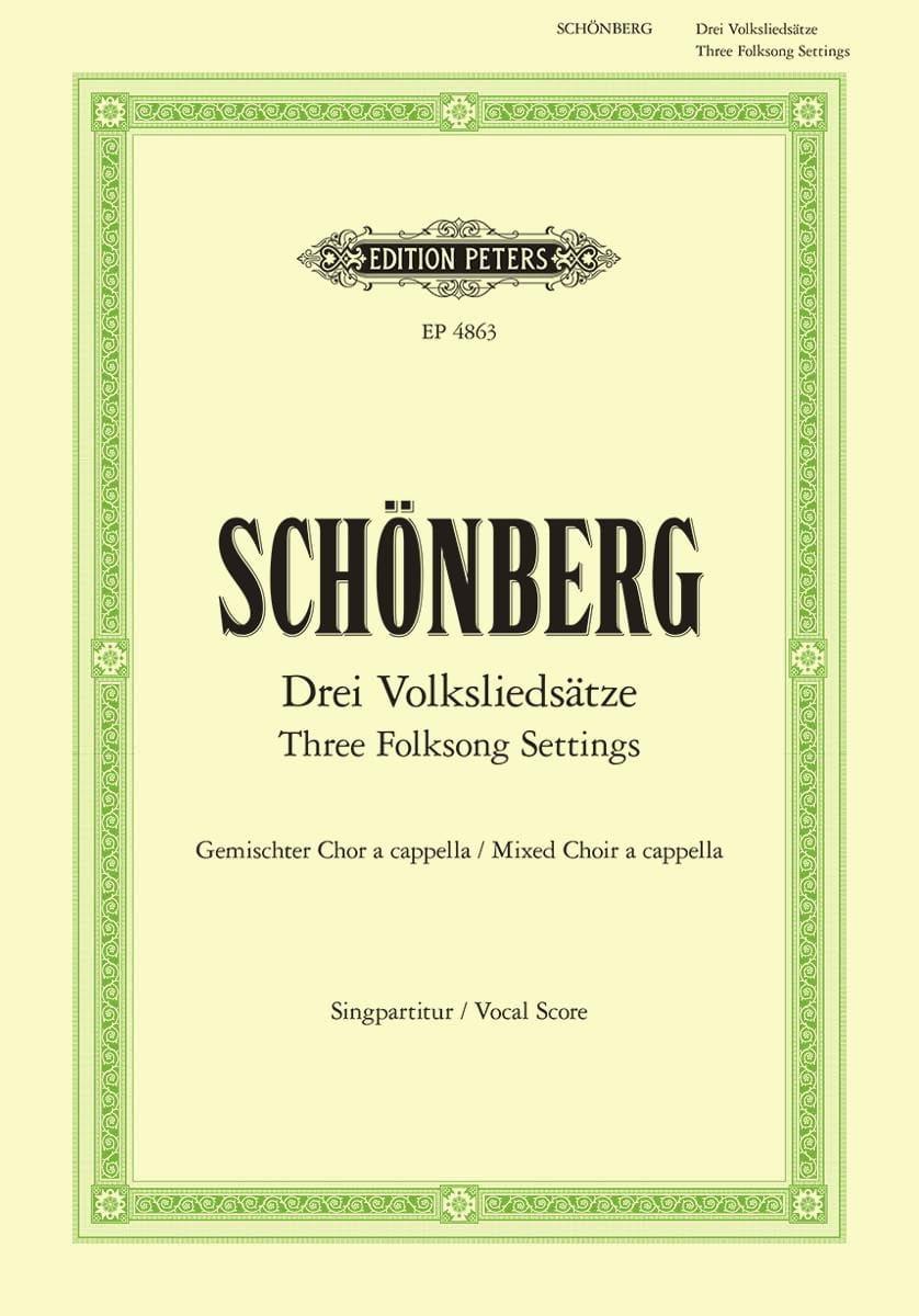 3 Volksliedsätze - Arnold Schoenberg - Partition - laflutedepan.com