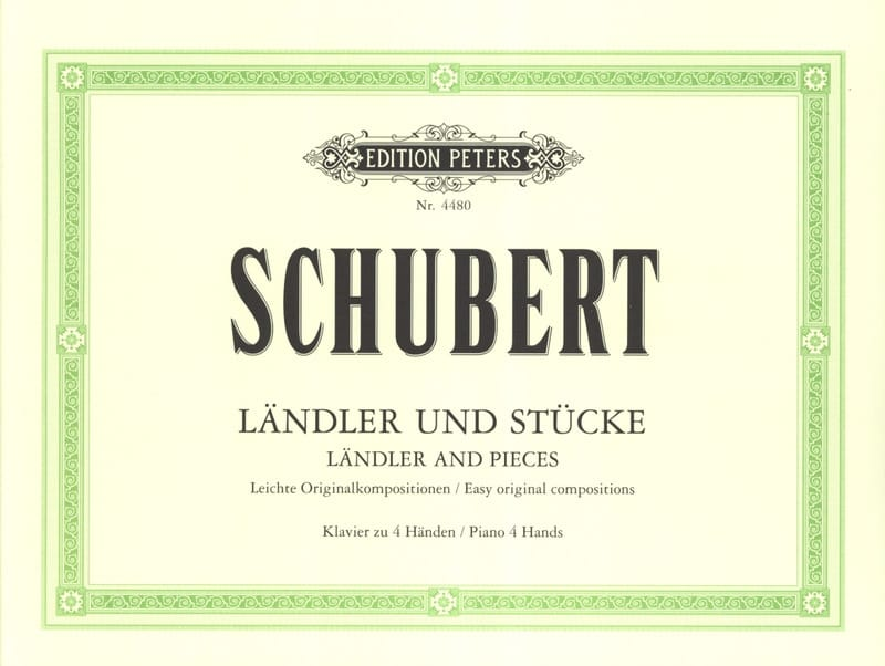 SCHUBERT - Ländler And Stücke. 4 Hands - Partition - di-arezzo.co.uk
