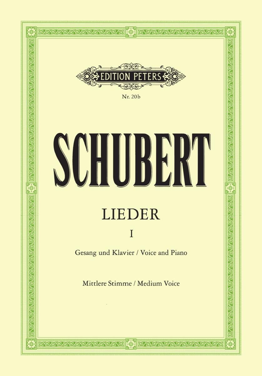 SCHUBERT - Lieder Volume 1 - Medium Voice - Partition - di-arezzo.co.uk