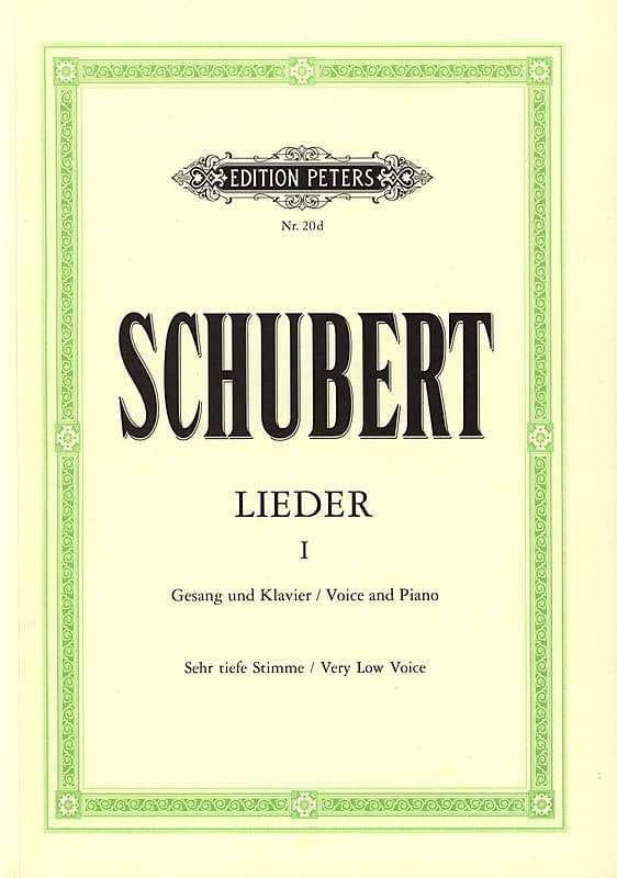SCHUBERT - Lieder Volume 1 - Voix Très Grave - Partition - di-arezzo.fr