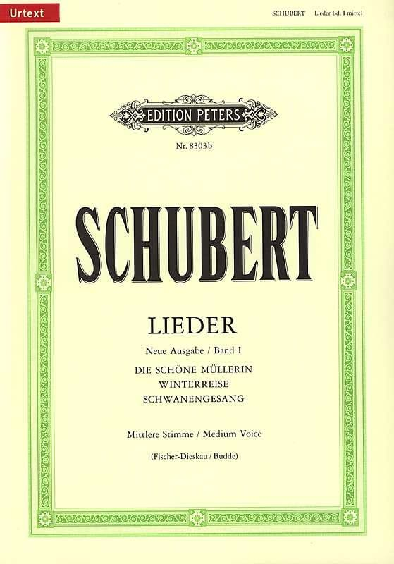 SCHUBERT - Lieder Vol. 1 Mean Voice - Fischer-Dieskau - Partition - di-arezzo.co.uk