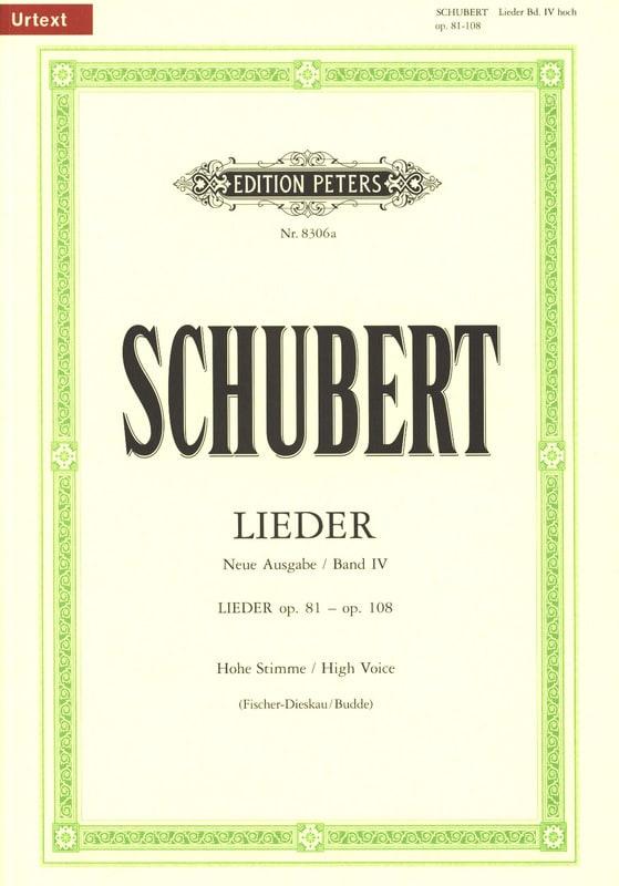 Lieder Vol. 4 Voix Haute - Fischer-Dieskau - laflutedepan.com