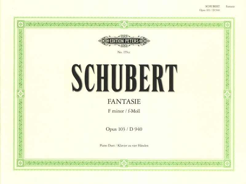 SCHUBERT - Fantasy In F Minor Opus 103. D 940 4 Hands - Partition - di-arezzo.co.uk
